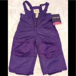 toddler snow bib ski pants New size 12 months